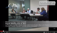 Manitouwadge Town Council Regular Meeting June 12, 2013 (Video)