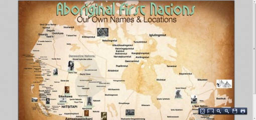 First Aboriginal First Nations Map Released Includes Canadian First