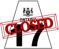Highway 17 Closed from Wawa to Sault Ste. Marie
