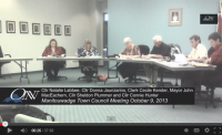 Manitouwadge Town Council Meeting Video: Oct.9.2013