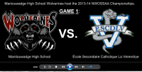 2013-14 NWOSSAA Boys Volleyball – GAME 1 Video/Results