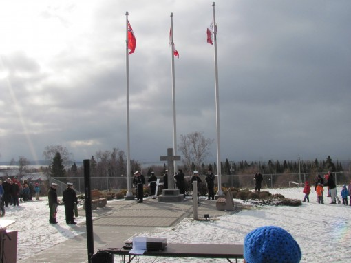 Remembrance day in terrace bay ontario news north for Terrace bay ontario