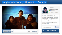 Greenstone Challenged by Nunavut Youth Hockey Team : More Funds/Support Req'd
