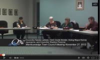 Manitouwadge Town Council November 27, 2013