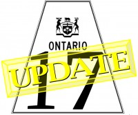 Highway conditions : Hwy17 Nipigon & Schreiber