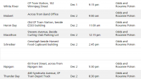 CP Holiday Train 2014 Northshore Schedule