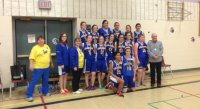 Junior Girls Basketball Silver Medalists: Marathon Falcons