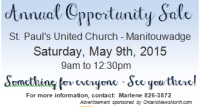 United Church Annual 'Opportunity Sale' Next Month