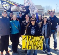 First Nations Rally in Pic Mobert Against Nuclear Waste