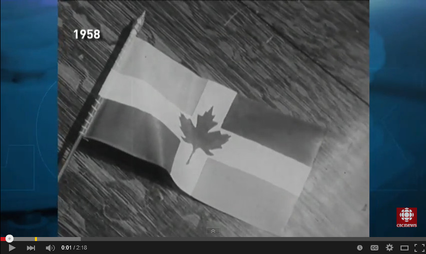 Canadian Flag Design Jeered | Look Back  [CBC The National]