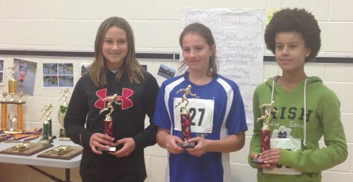 Holy Angels x-country running champions. Photos HAS