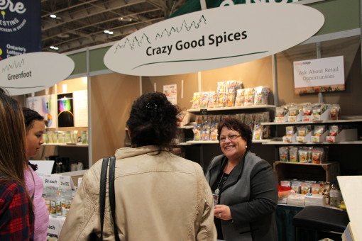 Grace Ward is excited to make her first appearance with her Crazy Good Spices at the 2015 Royal Agricultural Winter Fair. The Thunder Bay company, offers a wide range of natural, custom blends of herbs. Supplied photo.