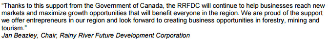 Government of Canada Investment Supports Jobs, Growth and a Strong Economy