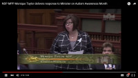 NDP response to Minister Re: #Autism Support & IBI Funding (Video)