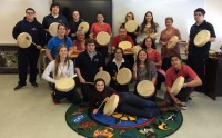 CSCNO Students Participate in Traditional Native Drum Fabrication & Birthing Ceremony
