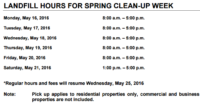 TERRACE BAY Residential Spring Clean-Up Week