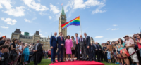 MP Carol Hughes on Rainbow Coalition Flag Raising on Parliament Hill