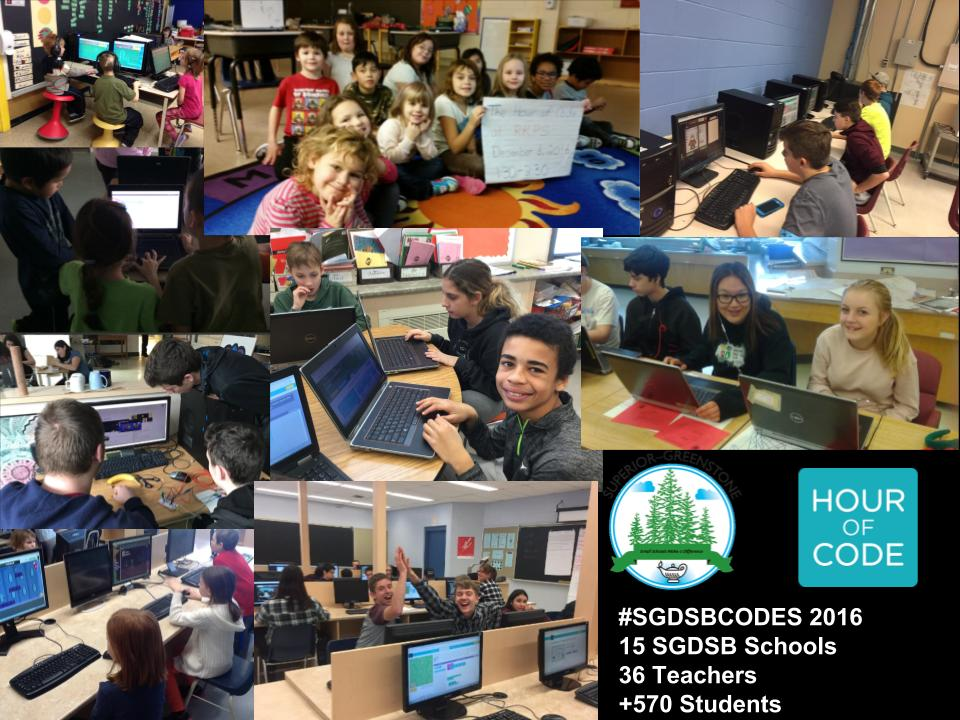Superior-Greenstone DSB Participates in Global Hour Of Code