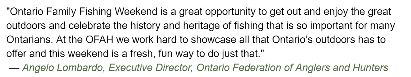 Manitouwadge Annual Family Fish Derby Among No-License Fishing Weekend Events in Ontario