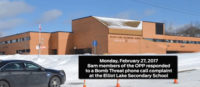 Bomb Threat at Elliot Lake Secondary School