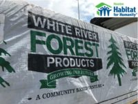 Lumber Donation Arrives in Houston Texas from White River Ontario