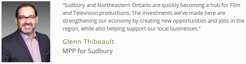 Ontario Supporting Northern Film and Television Industry