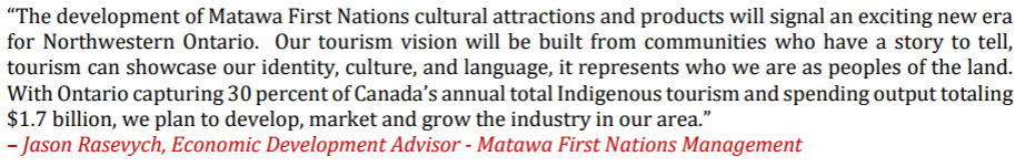 Matawa First Nations Host Community Sessions to Develop 20yr Regional Tourism Strategic Plan